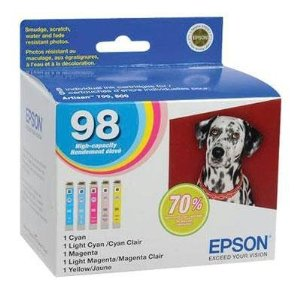 Epson T098920 98 High Capacity Color Ink Multi-Pack for Epson Artisan 700, 710, 800, and 810 (Pack of 5)