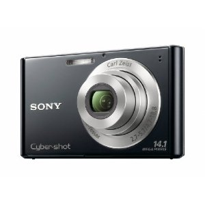 Sony Cyber-shot DSC-W330 14.1MP Digital Camera with 4x Wide Angle IS Zoom (Black)