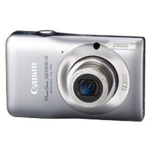 Canon PowerShot SD1300 IS Digital Elph 12.1MP Camera with 4x Wide Angle O.I.S Zoom (Silver)