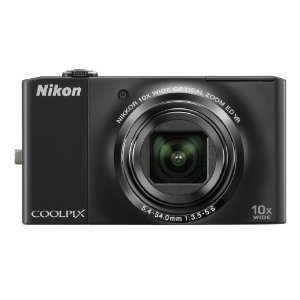 Nikon Coolpix S8000 14MP Digital Camera with 10x Wide ED VR Zoom (Black)