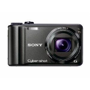 Sony Cyber-shot DSC-H55 14.1MP Digital Camera with 10x Wide Angle IS Zoom G Lens (Black)