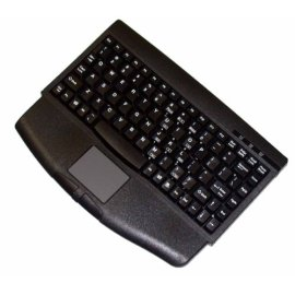 Adesso Mini Black PS/2 Keyboard with Glidepoint Touchpad