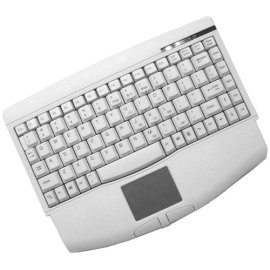 Adesso Mini White PS/2 Keyboard with Glidepoint Touchpad  ( ACK-540PW )