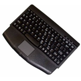 Adesso Mini Black USB Keyboard with Glidepoint Touchpad
