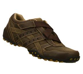 skechers brown citywalk flaunted velcro strap sneakers