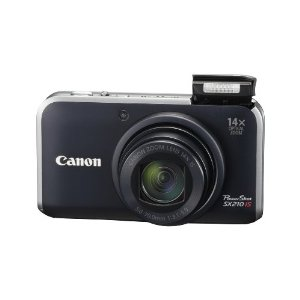 Canon PowerShot SX210 IS 14.1 MP Digital Camera with 14x Wide Angle Optical Image Stabilized Zoom and 3.0-Inch LCD (Black)