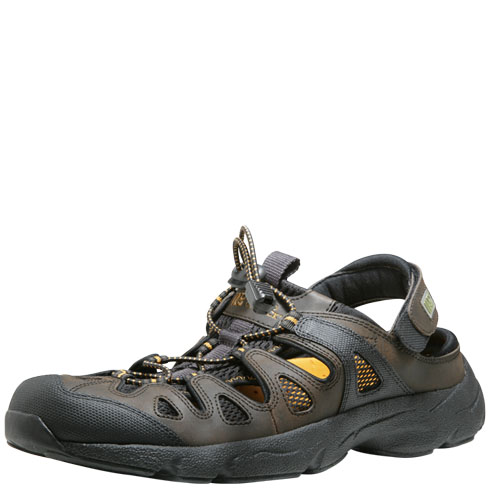 Rugged Outback Brown Cordoba Closed Toe Sport Sling: Size 9.5