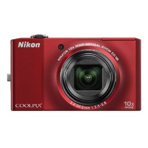 Nikon Coolpix S8000 14MP Digital Camera with 10x Wide ED VR Zoom (Red)