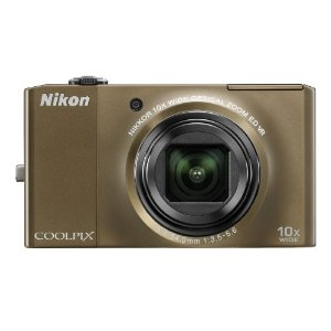 Nikon Coolpix S8000 14MP Digital Camera with 10x Wide ED VR Zoom (Bronze)