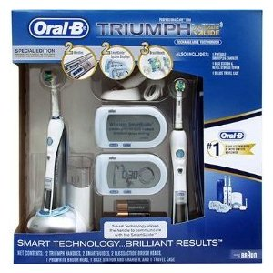 oral b triumph professional care 9950 special edition with 2 handles 2 smartguides 3 brush. Black Bedroom Furniture Sets. Home Design Ideas