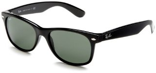 Ray-Ban RB2132 New Wayfarer Sunglasses (Black Frame/G-15-XLT Lens)