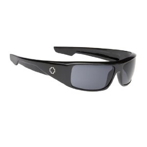 SPY Optic Logan Sunglasses LOBS00 (Gloss Black, Grey Lenses)