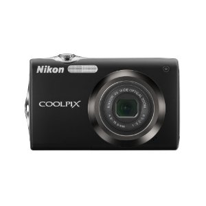 Nikon Coolpix S3000 12MP Camera with 4x VR Zoom (Black)