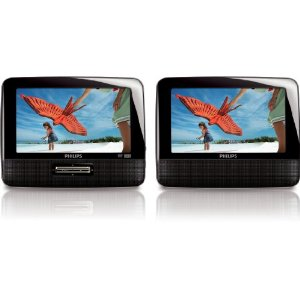 "Philips PD7012/37 7"" LCD Dual Screen Portable DVD Player"