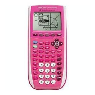 Texas Instruments TI 84 Plus Silver Edition Graphing Calculator Pink