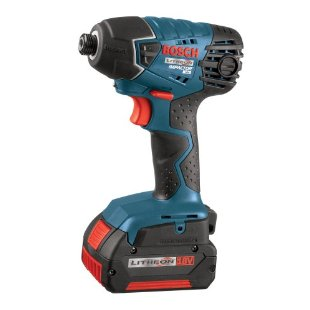 Bosch 25618-01 Cordless Impact Driver with 2 Litheon FatPack Batteries