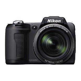 Nikon Coolpix L110 12.1MP Digital Camera with 15x VR Zoom (Black)