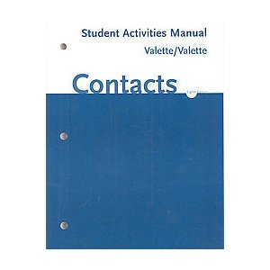 Student Activities Manual for Valette's Contacts: Langue et culture françaises, 8th