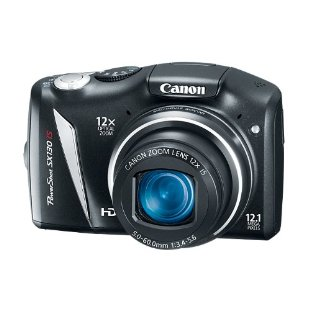 Canon PowerShot SX130 IS 12.1MP Digital Camera w/ 12x Wide Angle Zoom