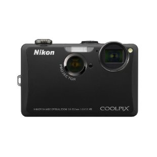 Nikon Coolpix S1100pj 14MP Digital Camera with 5x Wide Angle Optical VR Zoom, Built-in Projector
