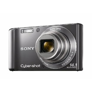 Sony Cyber-shot DSC-W370 14.1MP Digital Camera with 7x Wide Angle IS Zoom (Silver)