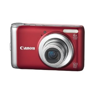 Canon PowerShot A3100IS 12.1MP Digital Camera with 4x IS Zoom (Red)