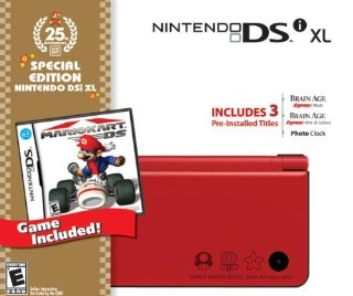 Nintendo DSi XL 25th Anniversary Special Edition Mario Kart Bundle (Red)
