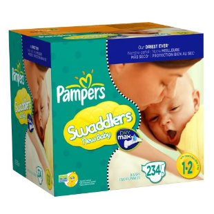 Pampers Swaddlers New Baby Diapers with Dry Max, Size 1-2 (234-Diapers)