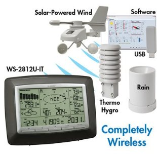 La Crosse WS-2812 Professional Wireless Weather Center with Solar Powered Wind Sensor & PC Software
