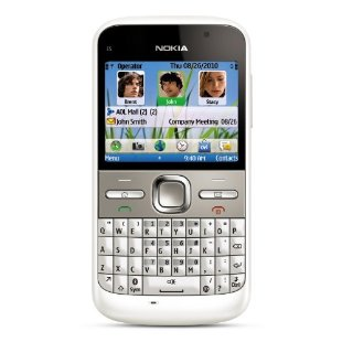 Nokia E5 Unlocked GSM Phone (White)