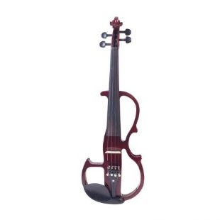 Cecilio CEVN-2NA Full Size Electric Silent Violin w/ Solidwood Ebony Fitted in Red Mahogany Metallic