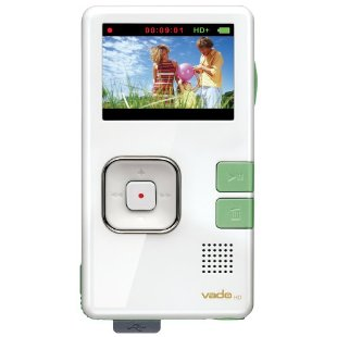 Creative Labs Vado HD 4GB Pocket Video Camcorder, 2nd Generation (White Gloss with Green Accents)