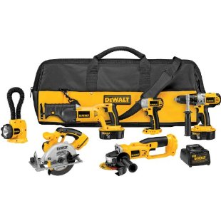 DeWalt DCK655X XRP 6 Tool Combo Kit with Impact Driver, Hammerdrill, Circular Saw, Recip Saw, Impact Driver, Cut-Off Tool, Floodlight)