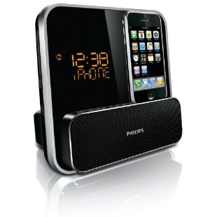Philips Docking Entertainment System DC315 for iPod/iPhone with Dual Alarms and LED Clock