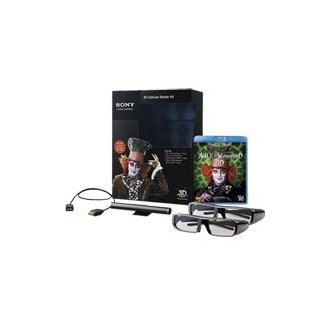 Sony 3D Deluxe Starter Kit Bundled with Alice in Wonderland Blu-ray Movie