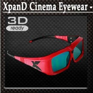 Xpand X102 DLP-Link Active 3D Shutter Glasses for Mitsubishi or Samsung 3D DLP TVs and Sharp 3D Projectors