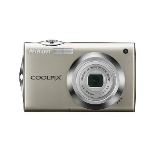 Nikon Coolpix S4000 12MP Digital Camera with 4x Zoom (Silver)