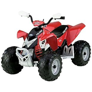 Peg Perego Polaris Outlaw ATV 12v Ride-On (Red)