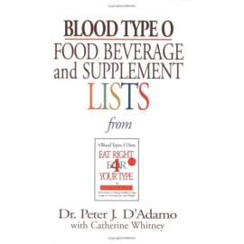 Blood Type O Food, Beverage, And Supplemental Lists (Food, Beverage and Supplement)