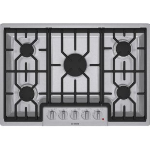 Bosch 800 Series NGM8054UC 30 5 Burner Gas Stainless Steel Cooktop