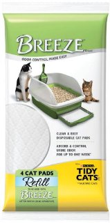 Tidy Cats Breeze Litter Pad Refill, 4-Count Cat Pads (Pack of 10, total of 40 Pads)