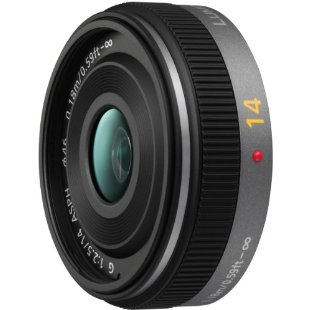 Panasonic Lumix G 14mm f/2.5 ASPH Pancake Lens for Micro Four Thirds Cameras (#H-H014)