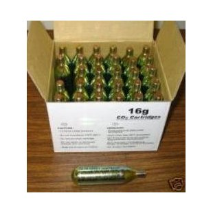 16 Gram Threaded CO2 Cartridges (12 Pack)