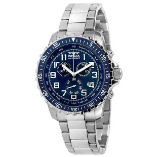 Invicta 6621 II Collection Chronograph Stainless Steel Blue Dial Men's Watch