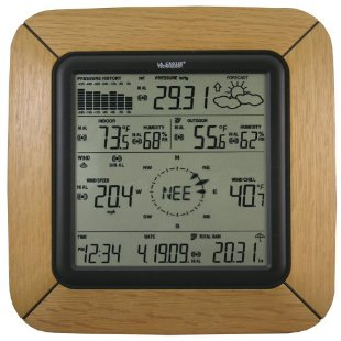 La Crosse WS-2811OAK-IT Professional Weather Center with Solar Wind Sensor