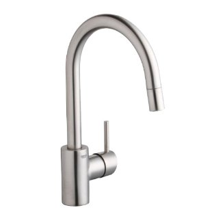 Grohe Concetto Dual Spray Pull-Down Kitchen Faucet, Infinity SuperSteel Finish #32 665 DC0