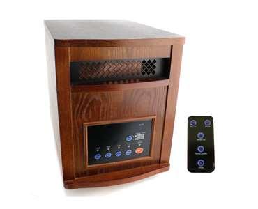 LifeSmart LS1500-6  Power Plus Infrared Quartz Heater (Amish Inspired Design)