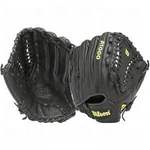 Wilson A1000 HG12-B Baseball Pitcher's Glove (Black, 12, Right Hand Throw)