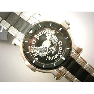 Bulova 78A109 Harley-Davidson Skull Medallion Black Dial Men's Watch