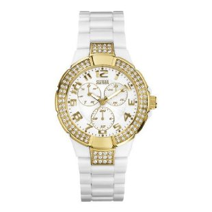 GUESS U11623L Unisex Multi-Function White Polycarbonate Watch